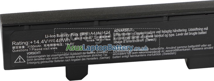Battery for Asus 0B110-00350000 laptop